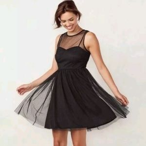 Lauren Conrad Black Tie Midnight Garden Dress Sz 6
